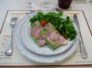 The Parsley ham starter chez Senard