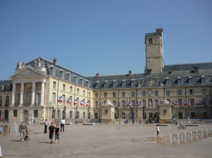"The ""Place"" is semi-circular in shape and was built in 1685. With the Palais des Etats (or the Dukes Palace) it's probably one of the most beautiful royal squares in France"