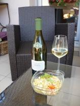 Chablis & a veggie dish